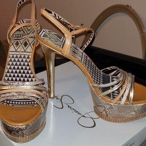 Jessica Simpson platform sandals
